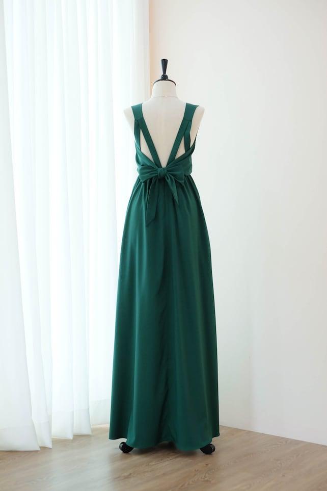 Forest green Dress Green Bridesmaid dresses Long Prom dress | Etsy