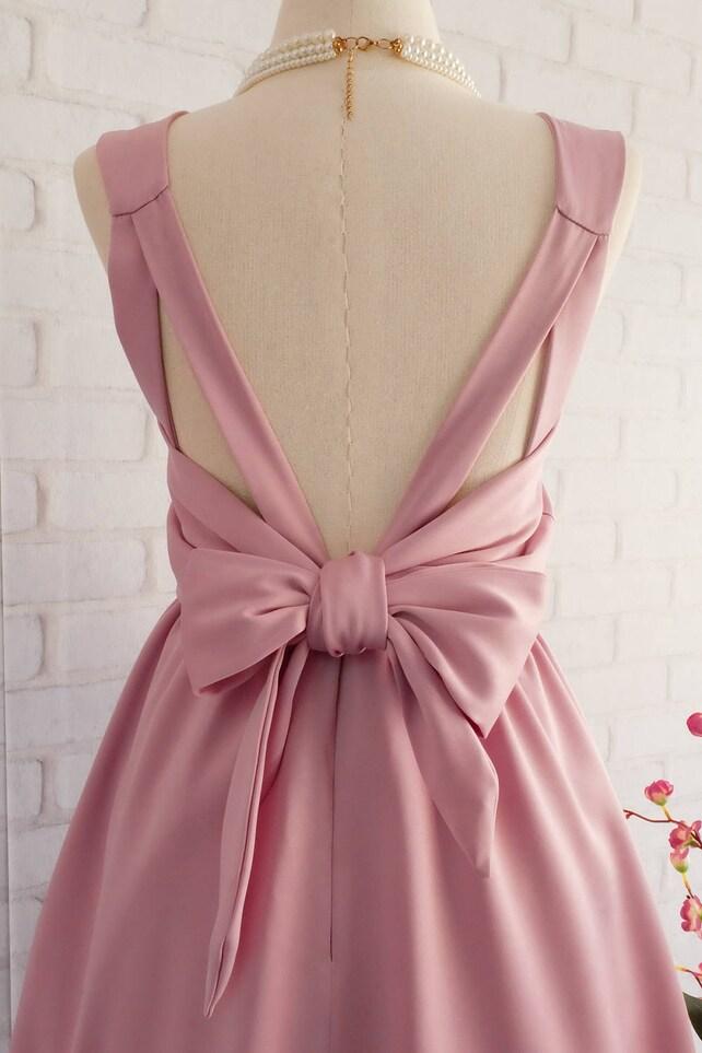 Mauve dress nude satin pink Bridesmaid dresses Prom dress | Etsy