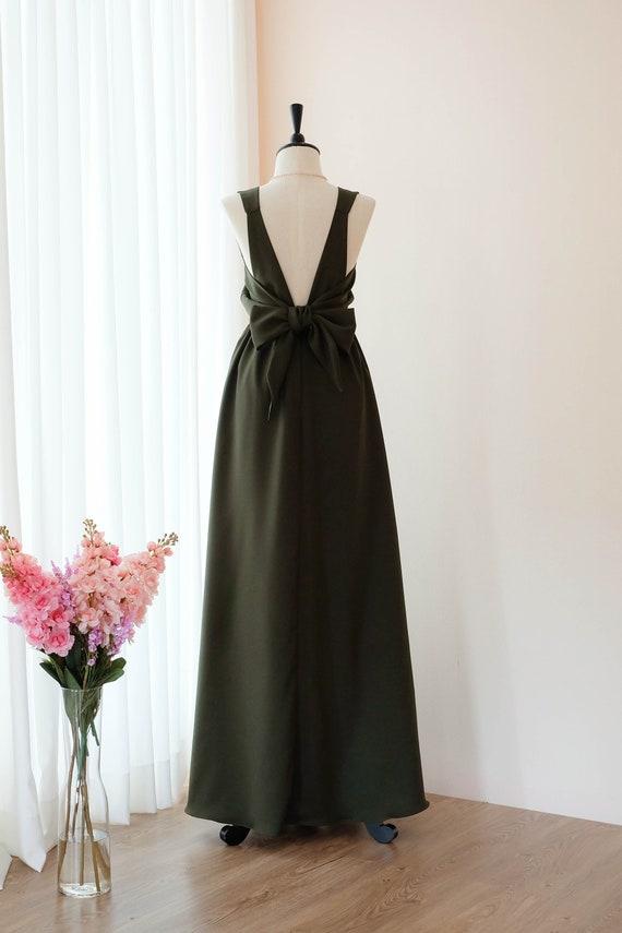 Dunkel grün grün lange Brautjungfer Kleid Hochzeit Kleid lang   Etsy bac29a99fe