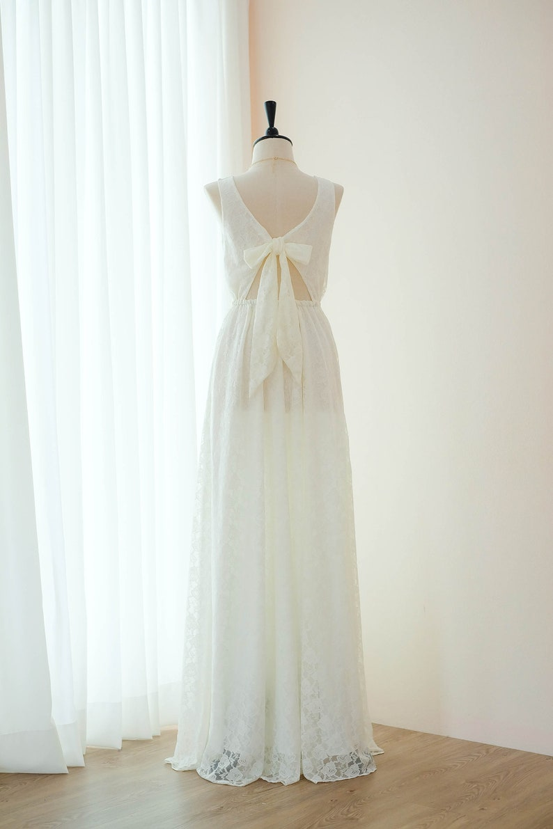 536af00339c Weiß weiß Cocktail Kleid Spitze lange Brautjungfer Kleid