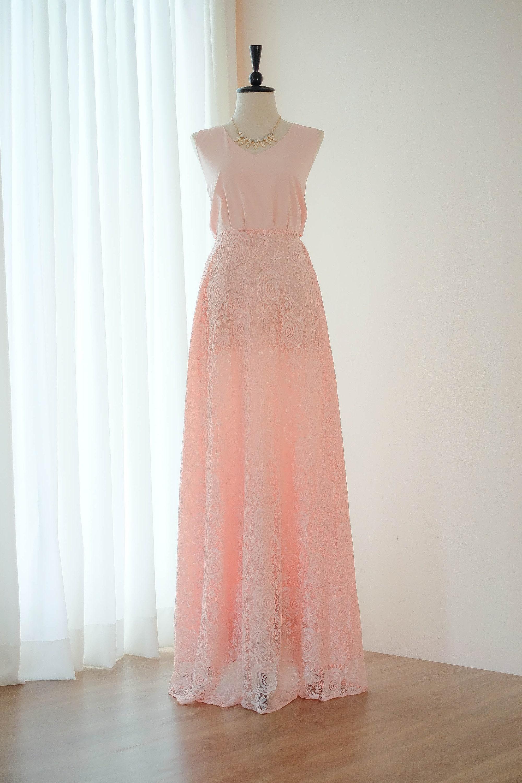 003528418198 Blush pink dress Long Bridesmaid dress Wedding Dress Long Prom   Etsy