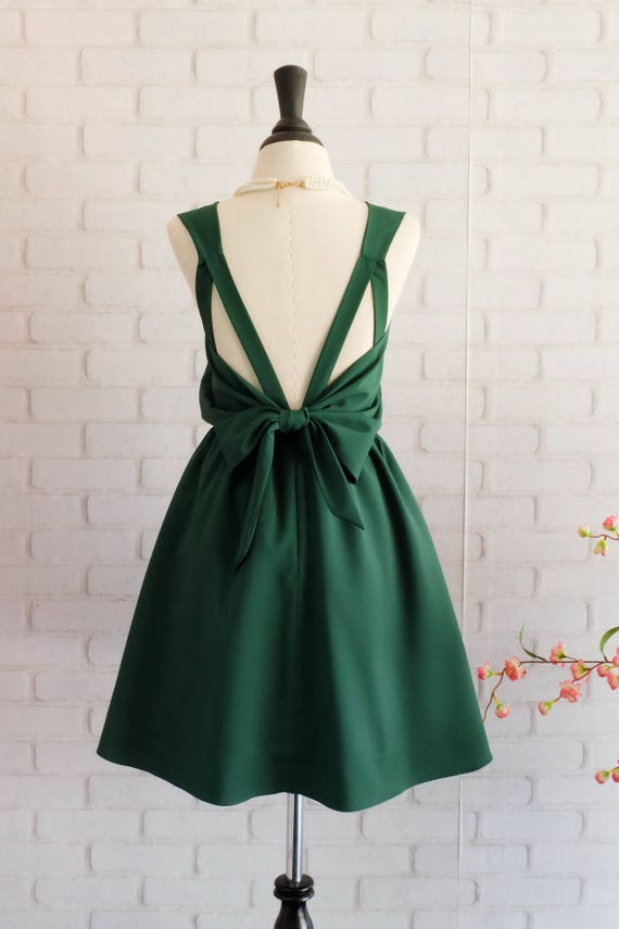 Forest Green Dress Green Bridesmaid Dress Wedding Prom Dress Etsy