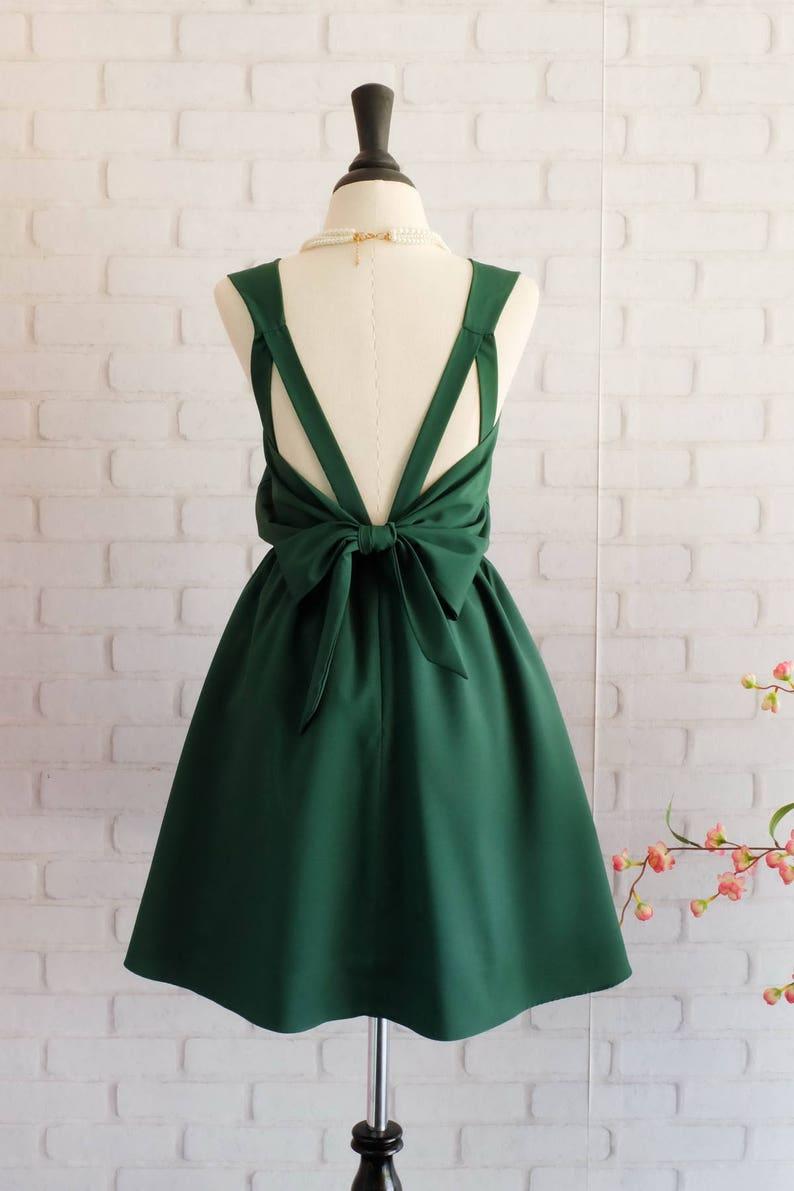 Forest green dress Green Bridesmaid dress Wedding Prom dress image 0