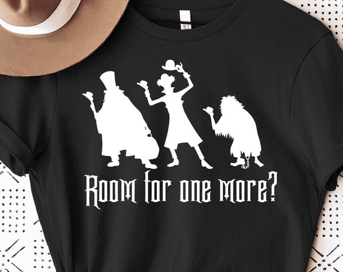 Haunted Mansion - Hitch Hiking Ghost - Disney Haunted Mansion - Room for One More - Magical Vacation Tee - Adult, Youth, Toddler, and Tanks