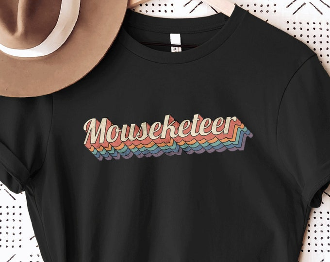 Mouseketeer, Mickey Vintage Old School Retro Hippie, Disney Shirt for Kids Him Her, Disney Family Vacation Trip, Sublimation Full Color