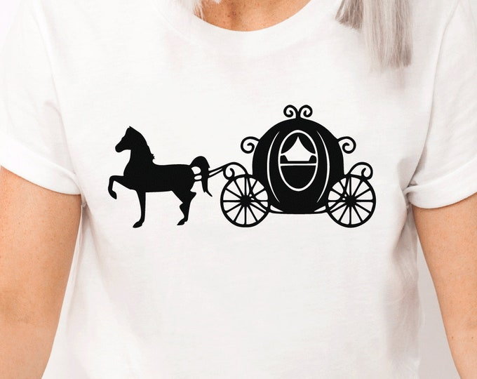 Disney Cinderella Carriage - Prince Charming -Magical Vacation Tee - Adult, Youth, Toddler, and Tanks, Tie-Dye