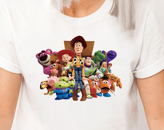 Toy Story 3 and 4, Buzz Lightyear Woody Andy Jessie, Disney Shirt for Kids Him Her, Disney Family Vacation, Sublimation Full Color
