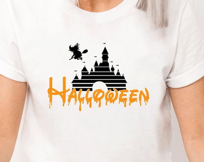 Disney Halloween Castle, Disney Halloween, Mickeys Not So Scary Halloween, Disney Shirts, Adult Youth Toddler and Tanks, Tie-Dye