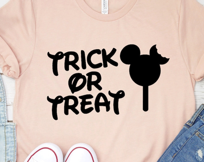 Trick Or Treat, Disney Halloween, Disney Not So Scary Halloween, Mickey Ice Cream, Adult Youth Toddler and Tanks, Tie-Dye