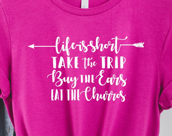 Life Is Short...Eat the Dole Whip, Disney Snacks Ice Cream Churros, Disney Shirts, Magic Kingdom, Adult Youth Toddler and Tanks, Tie-Dye