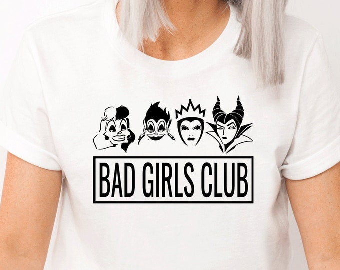 Disney Villains Shirt, Bad Girls, Disney Women's Shirt, Funny Disney, Character Shirt, Adult Youth Toddler and Tanks, Tie-Dye