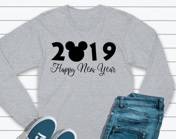 Happy New Years 2019 - Mickey Ears - Adult and Youth sizes