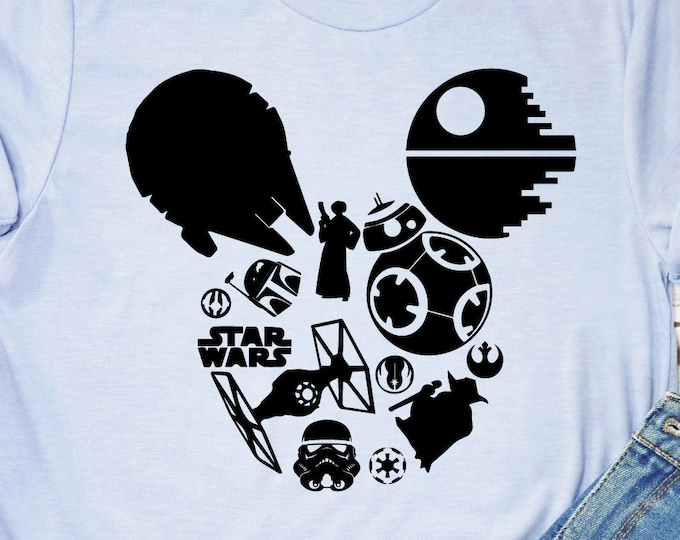 Star Wars, Galaxy's Edge Tie Fighter Yoda Storm Trooper Jedi, Mickey Ears, Disney Shirts, Adult Youth Toddler and Tanks, Tie-Dye