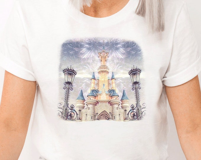 Disney Castle, Magic Kingdom Fireworks, Magical Vacation Trip Love Disney, Shirt for Kids Him Her, All Things Disney, Sublimation Full Color