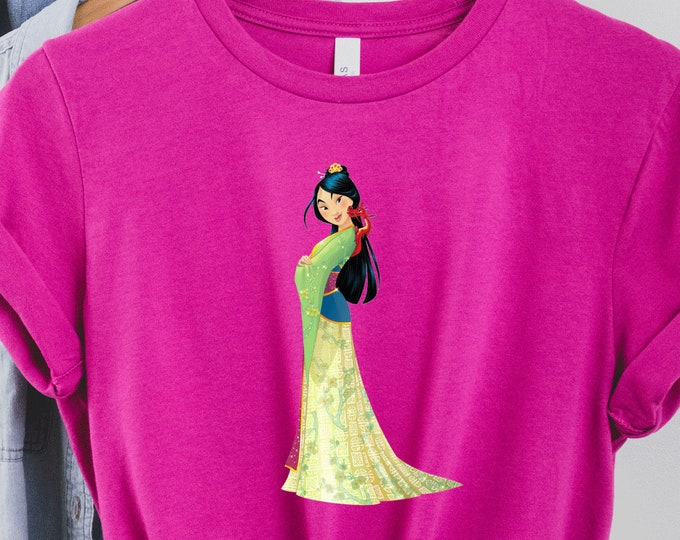 Mulan, Disney Shirt for Kids Him Her, Disney Family Vacation Trip, Sublimation Full Color