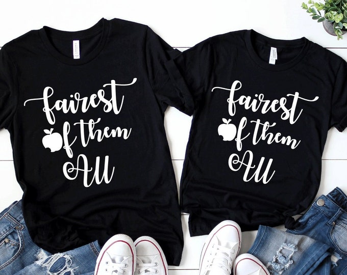 Fairest of Them All Disney Tee - Adult, Youth, Toddler, and Tanks-Over 100 Color Choices