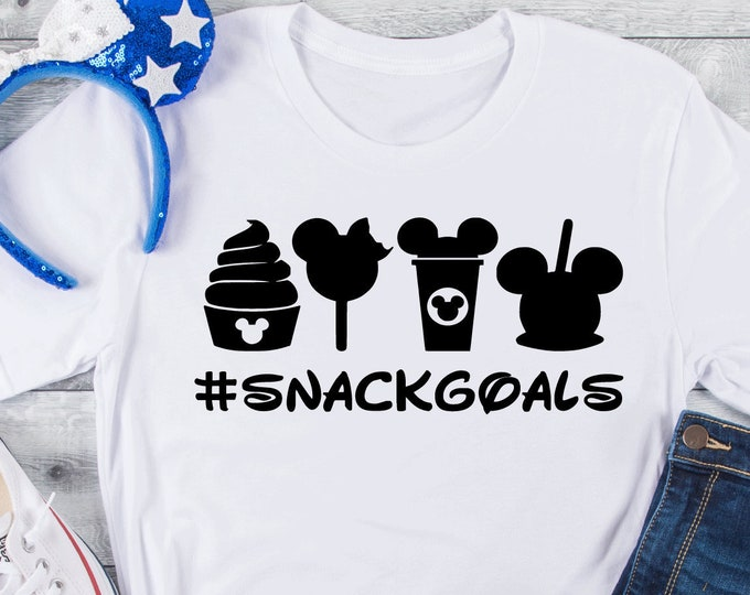 Snack Goals - Magical Vacation Tee - Adult, Youth, Toddler, and Tanks-Over 100 Color Choices, Tie-Dye
