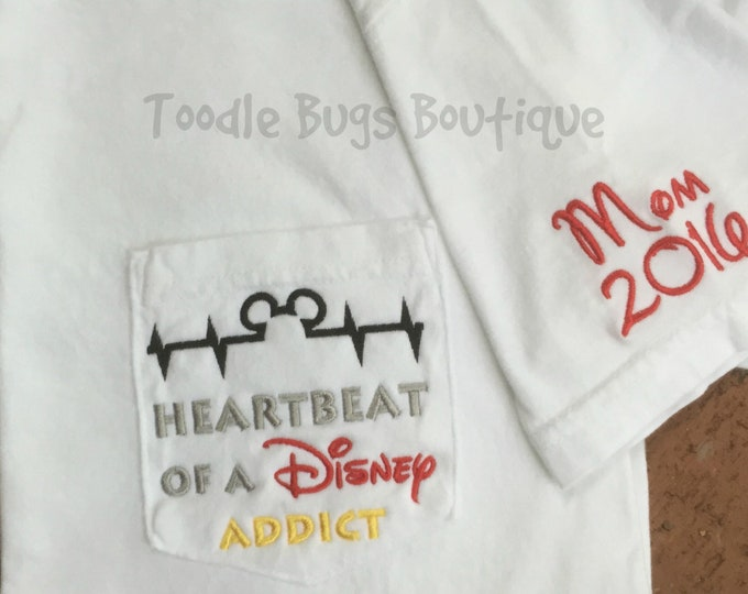 Heartbeat of a Disney Addict - youth and adult sizes