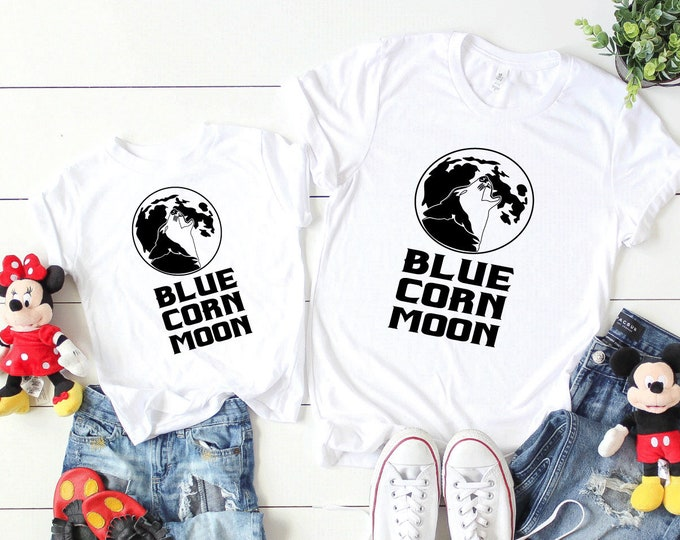 Blue Corn Moon Pocahontas Shirt - Adult, Youth, Toddler, and Tanks-Over 100 Color Choices