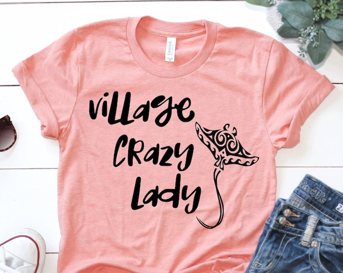 Moana - Village Crazy Lady Disney Tee  - Adult, Youth, Toddler, and Tanks-Over 100 Color Choices