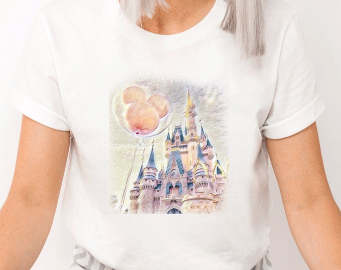 Disney Castle Balloon, Magic Kingdom, Magical Vacation Trip, Love Disney, Shirt for Kids Him Her, All Things Disney, Sublimation Full Color