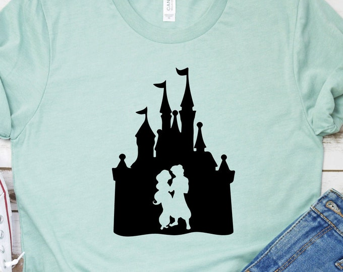 Jasmine And Aladdin, Magic Kingdom, Princess Shirts, Women's Lady's Girl's Disney Shirt, Disneyland Shirt, Disney Shirts