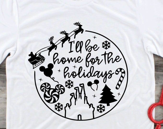 Home for the Holidays - Disney Christmas -  Christmas at Disney - Magical Vacation Tee - Adult and Youth sizes, Tie-Dye