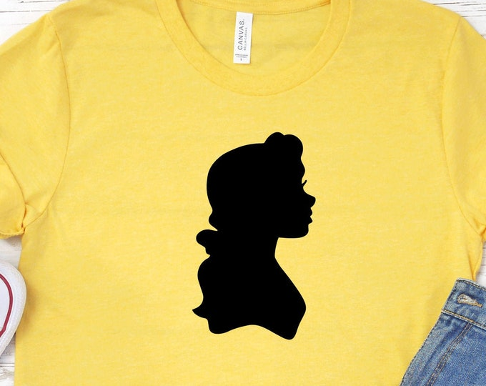 Disney Princess Belle Shirt, Beauty & The Beast Shirts, Princesses - Adult, Youth, Toddler, and Tanks-Over 100 Color Choices, Tie-Dye