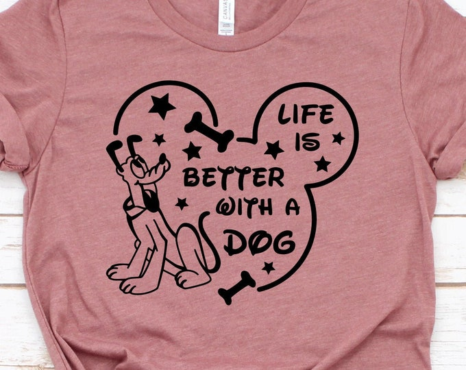 Lift Is Better With A Dog - Adult, Youth, Toddler, and Tanks-Over 100 Color Choices