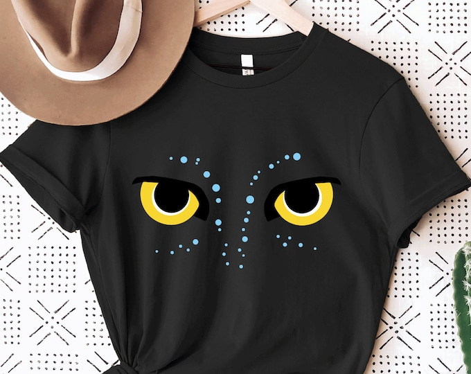 Pandora Avatar Eyes, The World of Avatar, Banshee Disney Shirt for Kids Him Her, All Things Disney, Family Vacation, Sublimation Full Color