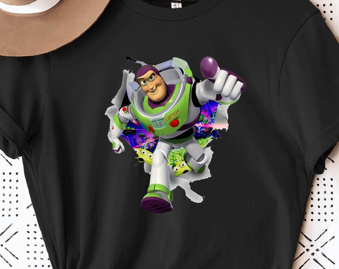 Buzz Lightyear Toy Story 2 3 4, Woody Andy Jessie, Disney Shirt for Kids Him Her, Disney Family Vacation, Sublimation Full Color