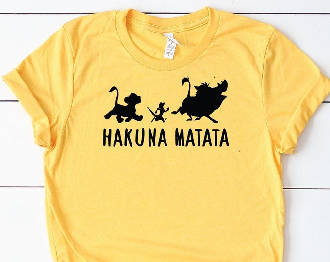 Hukuna Matata- Lion King - Timon and Pumbaa- Simba - Magical Vacation Tee - Adult, Youth, Toddler, and Tanks-Over 100 Color Choices, Tie-Dye