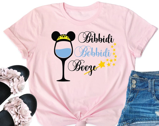 Bibbidi Bobbidi Booze - Magical Vacation Tee - Adult, Youth, Toddler, and Tanks-Over 100 Color Choices