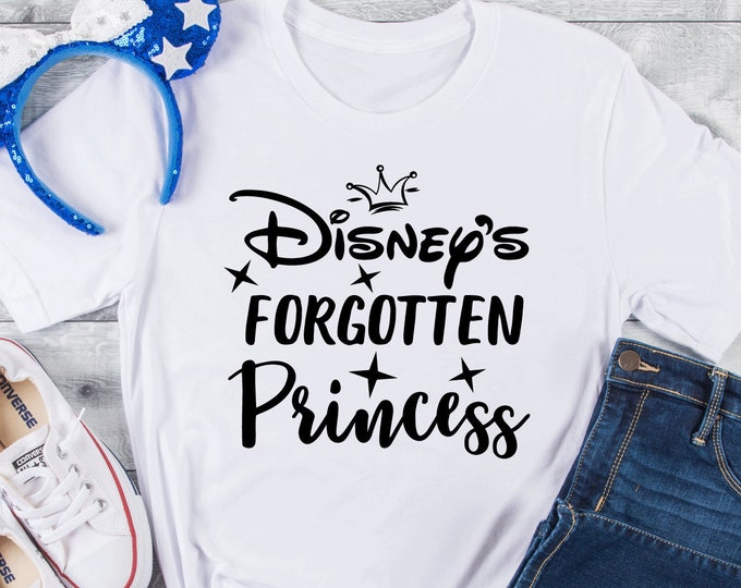 Disney's Forgotten Princess, Disney Princess, Magical Vacation Tee, Family Vacation Shirts, Adult Youth Toddler and Tanks, Tie-Dye