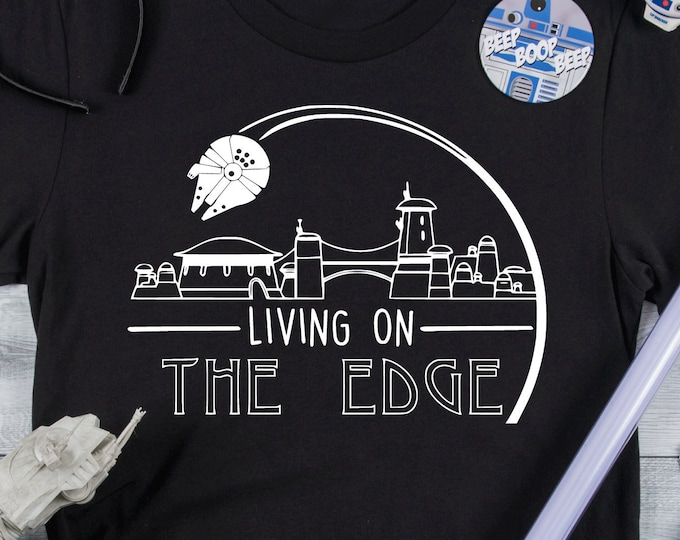 Living On The Edge - Disney Star Wars - Millennium - Adult, Youth, Toddler, and Tanks-Over 100 Color Choices, Tie-Dye