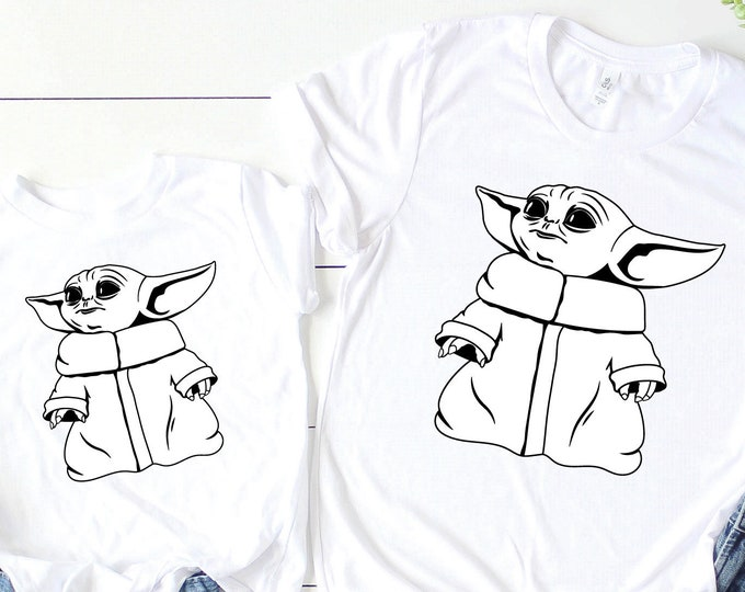 Baby Yoda -  Disney Vacation Tee - Adult, Youth, Toddler, and Tanks-Over 100 Color Choices