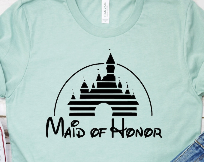 Disney Maid of Honor, Disney Bachelorette, Magic Kingdom, Adult Youth Toddler and Tanks, Tie-Dye
