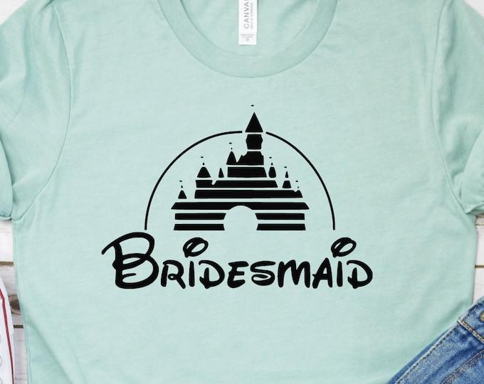 Disney Bridesmaid - Disney Bride - Disney Bachelorette - Adult, Youth, Toddler, and Tanks, Tie-Dye