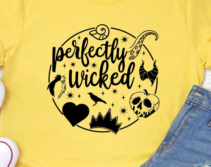 Perfectly Wicked Circle  - Adult, Youth, Toddler, and Tanks-Over 100 Color Choices