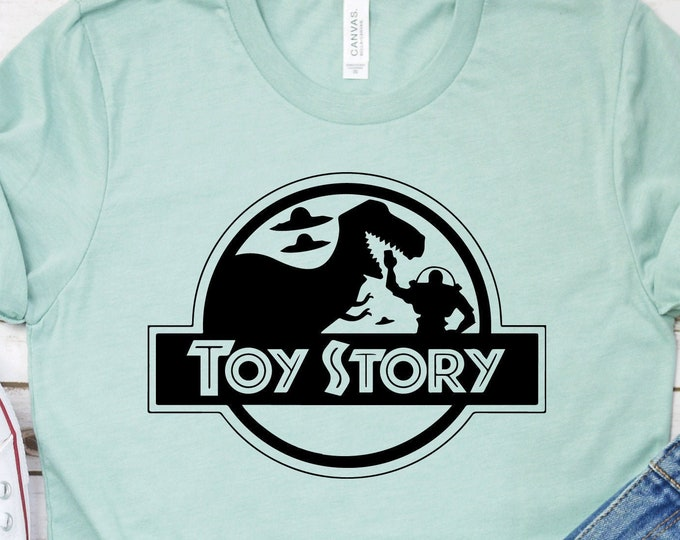 Toy Story - Rex- Jurassic Park - Disney Toy Story - Adult, Youth, Toddler, and Tanks, Tie-Dye