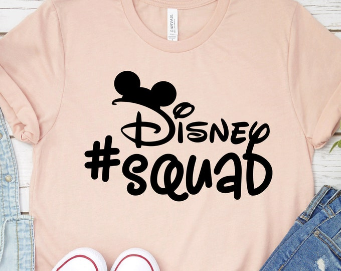 Disney Squad Mickey - Disney Vacation - Magical Vacation Tee - Adult, Youth, Toddler, and Tanks-Over 100 Color Choices, Tie-Dye