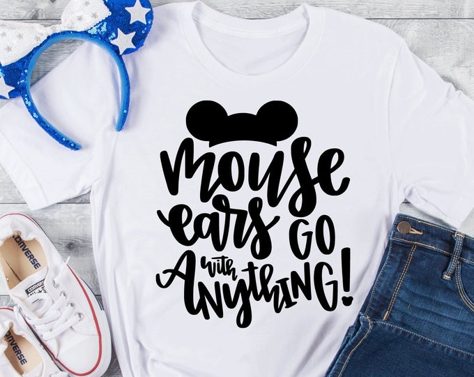 Mouse Ears Go with Anything - Disney Mickey Ears - Magical Vacation Tee - Adult, Youth, Toddler, and Tanks, Tie-Dye