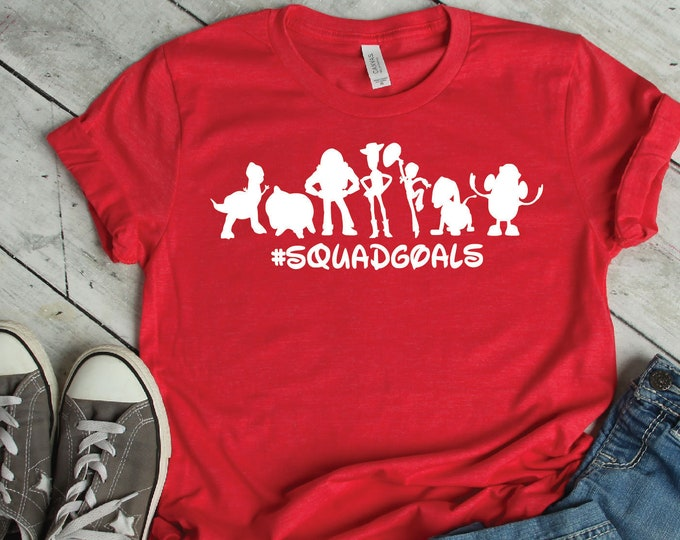 Toy Story Squad Goals -  Magical Vacation Tee - Adult, Youth, Toddler, and Tanks-Over 100 Color Choices