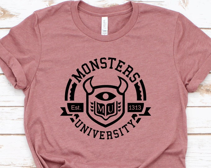 Monsters University- Adult, Youth, Toddler, and Tanks-Over 100 Color Choices