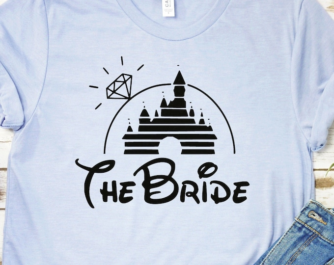 Disney Bride - Disney Bachelorette - Disney Bride-  Adult, Youth, Toddler, and Tanks-Over 100 Color Choices, Tie-Dye