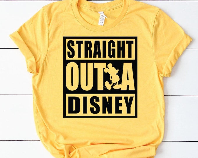 Straight Outta Disney -  Magical Vacation Tee - Adult, Youth, Toddler, and Tanks-Over 100 Color Choices