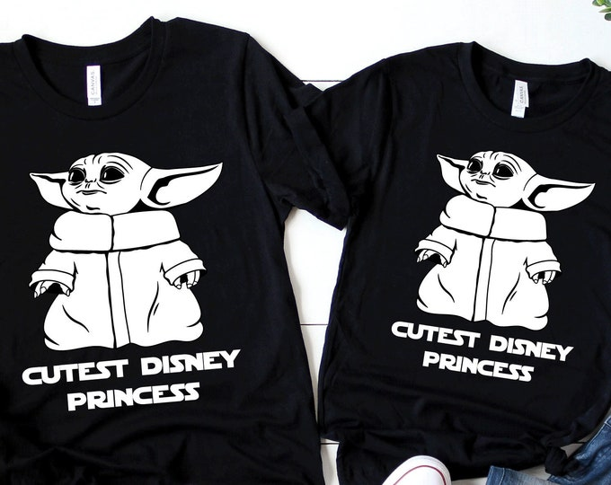 Baby Alien Cutest Disney Princess - Disney - Adult, Youth, Toddler, and Tanks-Over 100 Color Choices