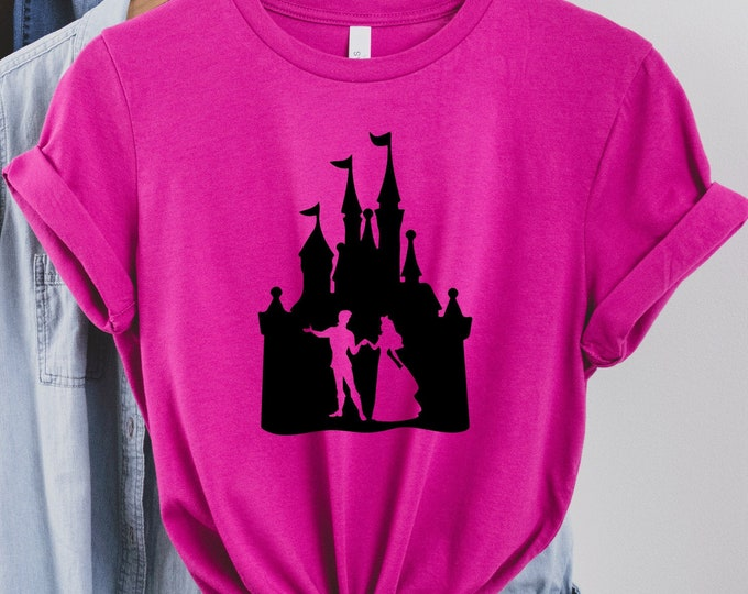 Aurora Castle, Magic Kingdom, Princess Shirts, Women's Lady's Girl's Disney Shirt, Disneyland Shirt, Disney shirt, Tie-Dye Tank Top Tees
