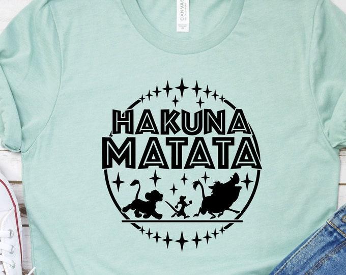 The Lion King - Hakuna Matata - Simba - Timon and Pumbaa - Adult and Youth Shirt sizes, Tie-Dye
