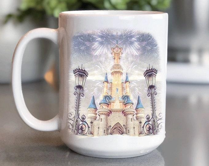 Disney Coffee Mug 15oz, All Things Disney, Disneyland, World Mickey Mug, Coffee Cup Gift for Him Her, Souvenir, Custom Sublimation Design